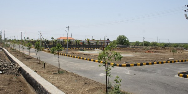 40 & 50 Feet Road Junction View from Social Facility Area